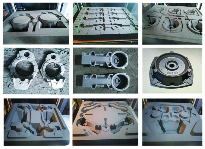 Iron / Aluminium Sand Casting Components With Blasting Pulley Custom Size